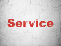 Business concept: Service on wall background Stock Image
