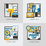 Business concept set in flat design Stock Photos