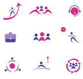 Business concept set of icons Stock Photo