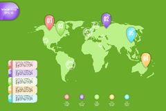 Business concept. Set of infographic elements world map, banners for options, parts or steps.Can be used for web Stock Images