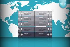 Business concept. Set of infographic elements world map, banners for options, parts or steps.Can be used for web  Royalty Free Stock Photo