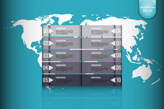 Business concept. Set of infographic elements world map, banners for options, parts or steps.Can be used for web Stock Photos