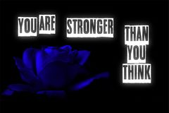 You are stronger than you think letters card illustration stock illustration