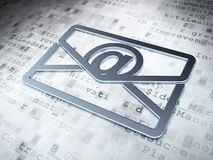 Business concept: Silver Email on digital. Background, 3d render Royalty Free Stock Photos