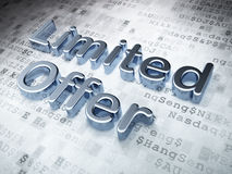 Business concept: Silver Limited Offer on digital. Background, 3d render Royalty Free Stock Photography