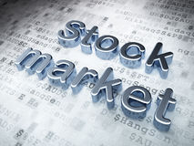 Business concept: Silver Stock Market on digital. Background, 3d render Stock Photography