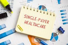 Business concept about Single-Payer Healthcare with inscription on the piece of paper