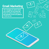 Business concept smartphone sending email marketing Royalty Free Stock Photo