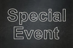 Business concept: Special Event on chalkboard Royalty Free Stock Photos