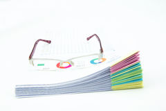 Business concept.Stack of  business reports Royalty Free Stock Images