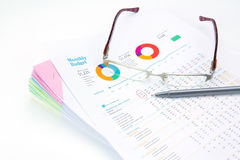 Business concept.Stack of  business reports. Business concept idea.Stack of  business reports Stock Photo