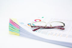 Business concept.Stack of  business reports Stock Images