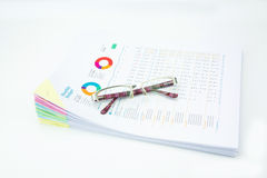 Business concept.Stack of  business reports Stock Image