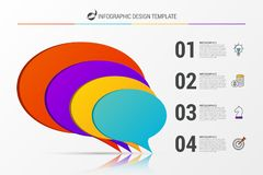 Business concept with 4 steps. Infographic design template. Vector illustration stock illustration