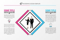 Business concept with 2 steps. Infographic design template. Vector illustration royalty free illustration