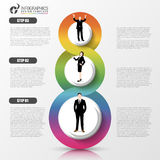 Business concept with steps. Infographic design template. Vector Stock Image
