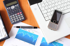 Business concept - stock market analysing Royalty Free Stock Photography
