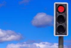 Business Concept: Stop and Think!. British traffic lights with the red light illuminated Stock Photography