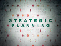 Business concept: Strategic Planning on Digital Royalty Free Stock Images