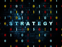Business concept: Strategy on Digital background Royalty Free Stock Image