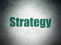 Business concept: Strategy on Digital Data Paper background. Business concept: Painted green word Strategy on Digital Data Paper background Royalty Free Stock Images