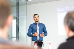 Business concept and strategy presentation on corporate meeting. Stock Photography