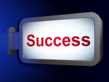 Business concept: Success on billboard background Royalty Free Stock Images