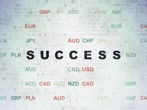 Business concept: Success on Digital Data Paper background Royalty Free Stock Images