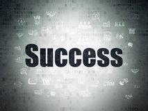 Business concept: Success on Digital Data Paper background Royalty Free Stock Photography