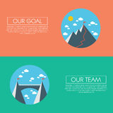 Business concept of success, goals, targets, aims Stock Photos