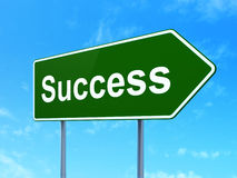 Business concept: Success on road sign background Royalty Free Stock Photos