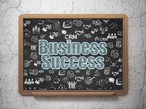 Business concept: Business Success on School board background Stock Image