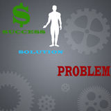 Business Concept. Of success with transparent gears Royalty Free Stock Image