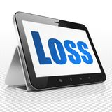 Business concept: Tablet Computer with Loss on display. Business concept: Tablet Computer with blue text Loss on display, 3D rendering Stock Image