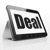 Business concept: Tablet Computer with Deal on display. Business concept: Tablet Computer with black text Deal on display, 3D rendering Stock Images
