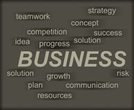 Business concept with tag cloud Stock Image