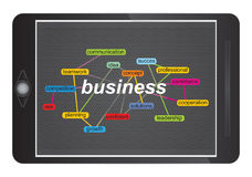 Business concept with tag cloud Royalty Free Stock Images