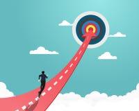 Business concept target royalty free illustration