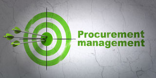 Business concept: target and Procurement Royalty Free Stock Photo