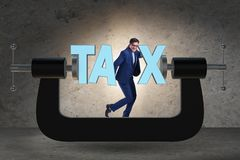 The business concept of tax payments burden royalty free stock photo