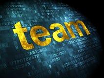 Business concept: Team on digital background. Business concept: pixelated words Team on digital background, 3d render Stock Photo
