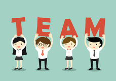 Business concept, Teamwork concept. Vector illustration. Royalty Free Stock Photos