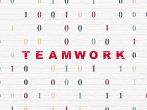 Business concept: Teamwork on wall background Stock Photo