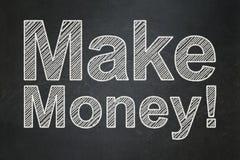 Business concept: Make Money! on chalkboard background. Business concept: text Make Money! on Black chalkboard background Stock Images
