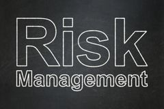 Business concept: Risk Management on chalkboard background. Business concept: text Risk Management on Black chalkboard background Royalty Free Stock Photography