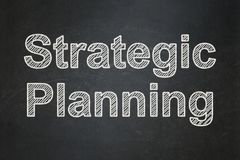 Business concept: Strategic Planning on chalkboard background. Business concept: text Strategic Planning on Black chalkboard background Royalty Free Stock Photo