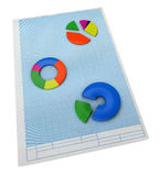 Business concept. Three-dimensional graph and charts. Royalty Free Stock Photos