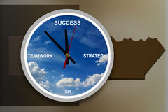 Business concept time to success with text strategy, teamwork, K Royalty Free Stock Photography