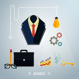Business concept. Tools, interier, online, Royalty Free Stock Photos