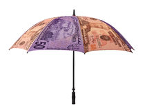 Business concept: umbrella of money Royalty Free Stock Photography